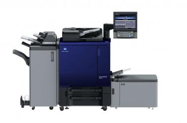 Kolorowy system produkcyjny do druku cyfrowego AccurioPrint C3070 i AccurioPrint C3080 od Konica Minolta